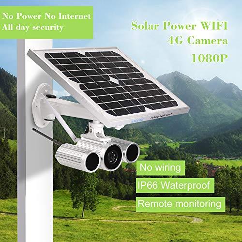 Festnight Wanscam 1080P Solar Power IP-Kamera 4G Wireless WiFi IP-Kamera IR-Cut Nachtsicht wasserdicht im Freien Solar- und Batterieenergie 3G GSM CCTV-Kamera Videoüberwachung Onvif IP-Kameras mit - Wanscam Ip-kamera Wireless
