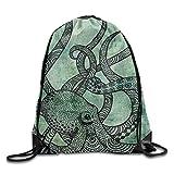 Yesliy Gorgeous coolen Oktopus Farbe printed3d Print Kordelzug Rucksack Schulter Taschen Turnbeutel