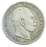 orig. 2 Mark Silbermünze 1877 A vz/st - Münze Preußen Kaiser Wilhem I