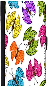 Snoogg Colorful Butterflies Designer Protective Phone Flip Back Case Cover For Lenovo Vibe K4 Note