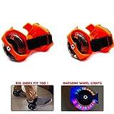 #7: Wembley Toys Street Gliders Roller Skates, LED Light-up Wheels (2 Wheels) (Orange)