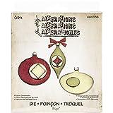 Fustella fustelle Bigz fustella decorativa palle palla Albero di Natale ornamenti decorazioni natalizie di Tim Holtz 658768 Big Shot Sizzix per feltro pelle lamina tessuto cartoncino gomma piuma Ellison