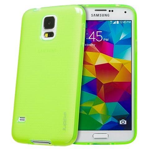 Juppa® Samsung Galaxy S5 TPU Silikon Tasche Hülle Schutzhülle mit LCD displayschutzfolie und Mikro-Reinigungstuch (Grün / Green)