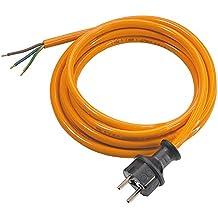 Stromkabel Ger/äteanschlusskabel Verl/ängerung H05BQ-F 3x1 10m orange kerbfest
