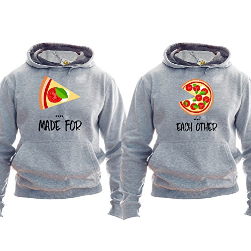 *Couple Pullover Made For Each Other Pizza Hoodie Kapuzenpullover Kapuzenshirt Best Friends*