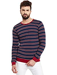 Rigo Men's Cotton Striped Full Sleeve Round Neck Tee