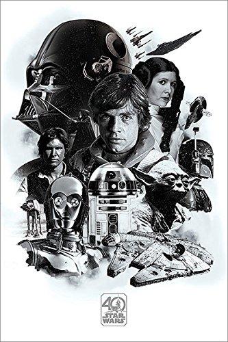 Vistoenpantalla Póster Star Wars. 40 Aniversario Montaje
