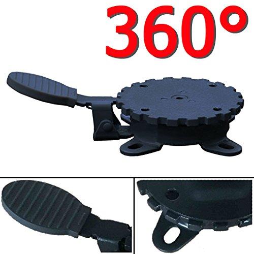 Grad 3 Stoff (360° MECHANISMUS +++ für Ampelschirm 360 Grad schwenkbar drehbar Fußpedal Schirm)