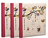 Arpan Vintage Art Deco Style Self-Adhesive Photo Albums with Totalling 60 Sheets/120 Sides - Pack of 3