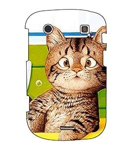 Fuson Designer Back Case Cover for BlackBerry Bold Touch 9900 :: BlackBerry Dakota :: BlackBerry Magnum (The comic cat theme)