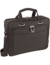 "Wenger 600645 ACQUISITION 16"" Laptop Slimcase , Padded laptop compartment with iPad/Tablet / eReader Pocket in Black {12 Litres}"