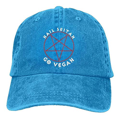 e4d6f2dd040 errterfte Hail Seitan Go Vegan Adult Cowboy Hat Baseball Cap Athletic  Design Trendy Hat for Men