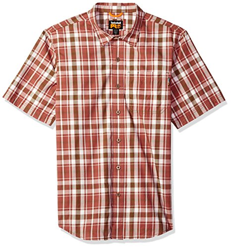Plaid Logo Shirt (Timberland PRO Herren Plotline Short-Sleeve Plaid Work Shirt Button Down Hemd, Red Oxide, Klein)