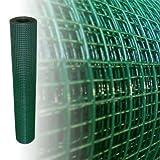 Volierendraht Grün Höhe 100 cm 4-Eck verzinkter Stahl Drahtgitter Maschendraht