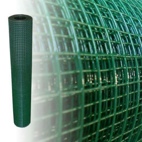Volierendraht Grün Höhe 100 cm 4-Eck Drahtgitter Maschendraht (10m, 12x12mm, 1,05mm dick)