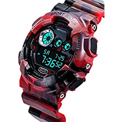 Men's waterproof and shockproof watches/Multifunction Watches/ leisure sports electronic watch-D
