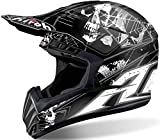 CASCO HELMET CROSS SWITCH SCARY BLACK MATT AIROH TG L