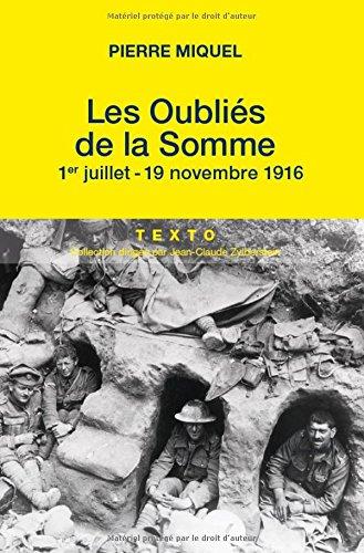 Les oublis de la Somme : Juillet-novembre 1916