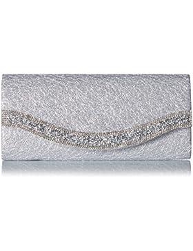 Damara® Damen Glanz Strass Rüschen Pailletten Handtasche
