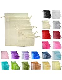 Time to Sparkle TtS 200pcs 9x12cm Organza Gift Bags Wedding Party Favour Jewellery Packing Pouches - Ivory