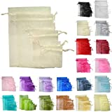 TtS 25pcs 15x20cm Organza Gift Bags Wedding Party Favour Jewellery Packing Pouches - Ivory