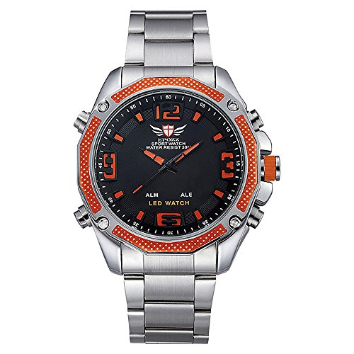 EPOZZ stainless steel sports watch mens watches