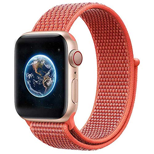 DoZoO Kompatibel Für Apple Watch Armband 38mm 40mm 42mm 44mm, Gewebtes Nylon Uhrenarmband für iWatch Series 4, Series 3, Series 2, Series 1