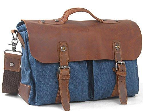 Everdoss Hommes sac à bandoulière en toile sac à main sac de messager sac de business sac d'ordinateur portable sac de loisirs