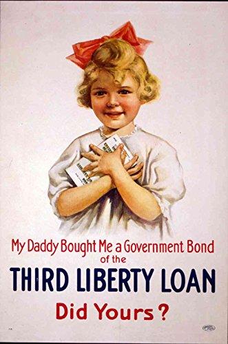 Das Museum Outlet-Liberty Loan, gespannte Leinwand Galerie verpackt. 29,7x 41,9cm