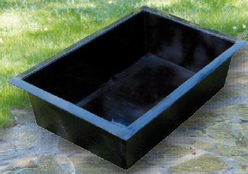 Heissner Bac rectangulaire préformé pour fontaine Noir 49 x 79 x 45cm