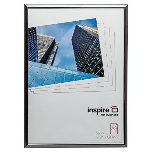 Hampton Frames EasyLoader fumée-Gris a3 30x42 cm Certificat Photo Cadres de sécurité plexi Verre Photo Photo Ouverture easa3smk