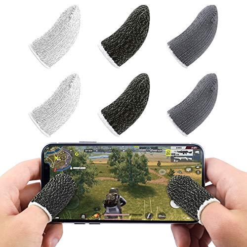 Dire-wolves Guanti da Gioco con Touch Screen per Manicotti da Gioco per Smartphone con Touchscreen Compatibili con PUBG Mobile Game Controller per Android iOS