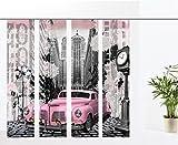 gardinen-for-life Flächenvorhang Pink Car - 4er - Serie, Set 4tlg, Jew. Gr.60x260 cm