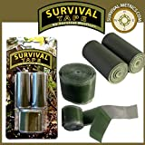 Survival Tape Pak - Tactical & Military, for Survival & Emergency Kits by Survival Metrics