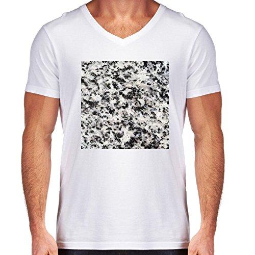 t-shirt-pour-homme-blanc-col-v-taille-s-texture-granitique-by-carsten-reisinger