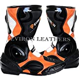 Moto Negro y Naranja–Botas, Multicolor - negro/naranja, 42 EU
