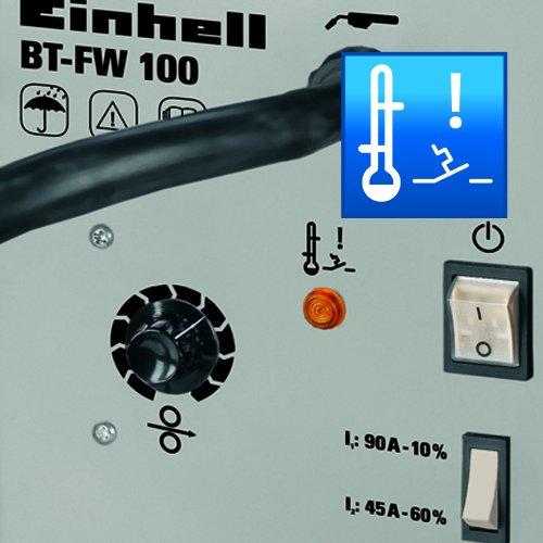Einhell Fülldraht Schweißgerät BT-FW 100 (31 V, inkl. Masseklemme, Brenner, Ventilatorkühlung, Schweißschirm, Schlackenhammer, Trageriemen) - 6