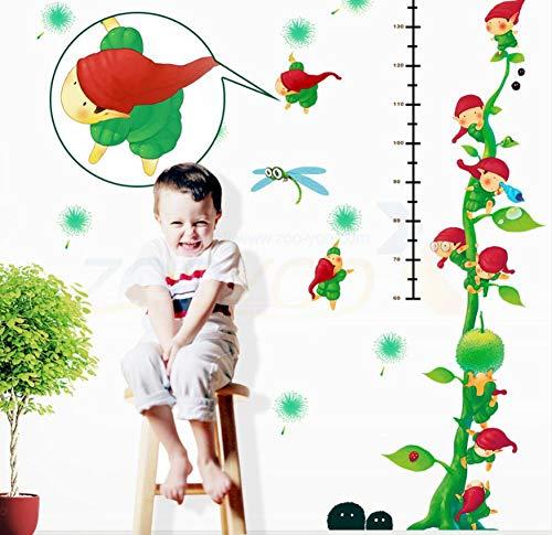 Libby-nice small world growth figure green wall 3d stickers camera dei bambini fai da te home decor murale originale del fumetto del tatuaggio art