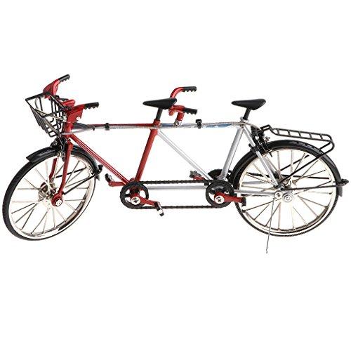 non-brand Sharplace 1:10 Legierung Diecast Tandem Fahrrad Rennrad Modell für Schaufenster, Geschenk Oder Kollektionen - Schwarz