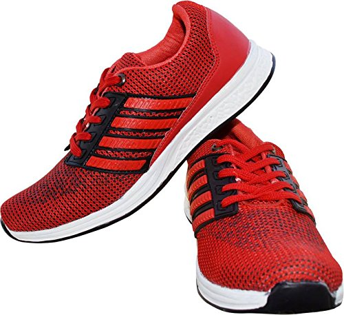 Shoes For Man\'s Men\'s Red Canvas Sneaker - 7