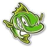 # 5652del vinile, motivo: pesci, per auto/Laptop/Bicicletta, 10cm, 2pezzi