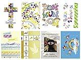 Paperstyle 12-0008 Grußkarten Kommunion Set mit 8 Motiven inklusiv Versandumschlägen