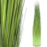 MACOShopde by MACO Möbel Künstliches Gras im natürlichen grün - Pflanze im Runden Büschel ca. 96 cm hoch