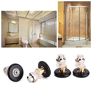 4x galet rouleau forme partialite roulette roue porte douche salle de bain 25mm - Roulette porte de douche ...