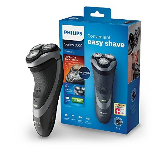 Philips S3510/06 Elektrischer Trockenrasierer Series 3000 mit ComfortCut-Klingen, Präzisionstrimmer
