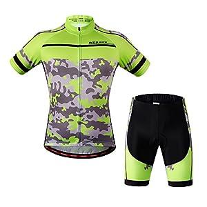 51KwAperYXL. SS300 Sunday Set Maglie e Pantaloncini da Ciclismo Unisex miracolosi e Traspiranti per Bici, Motociclisti, Biciclette