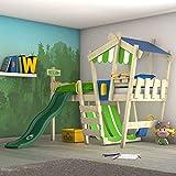 WICKEY lit pour enfant 'CrAzY Hutty' avec toboggan - Lit mezzanine en...