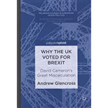 Why the UK Voted for Brexit: David Cameron's Great Miscalculation (Palgrave Studies in European Union Politics)