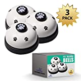 Campanelli per addestramento di cani e gatti, campana per la comunicazione con cani e gatti, per comunicare quando vogliono mangiare o andare in passeggiata - taglia unica (2 pezzi)