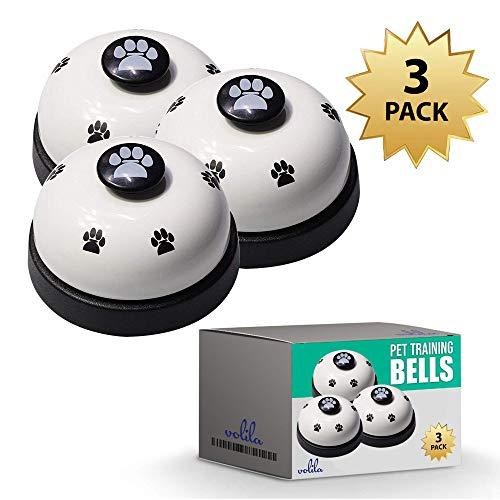 Welpen Glocken, Klingel für Hunde oder Katzen, Mit Hundeklingel stubenrein - Einheitsgröße (3 Stück)
